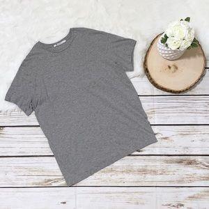 T by Alexander Wang Split Side Pocket T-Shirt Gray